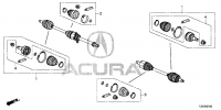 ПЫЛЬНИКИ ПРИВОДА (FRONT DRIVESHAFT SET SHORT PARTS (-\'15))