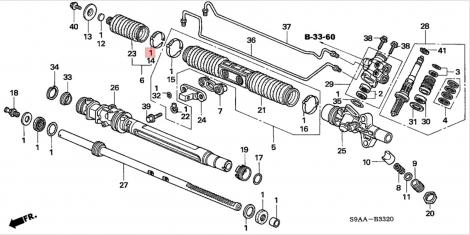 06531S9A003 Ремкомплект рулевой рейки Honda