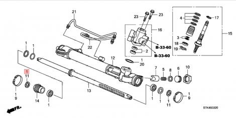 06531STKA01 Ремкомплект рулевой рейки HONDA