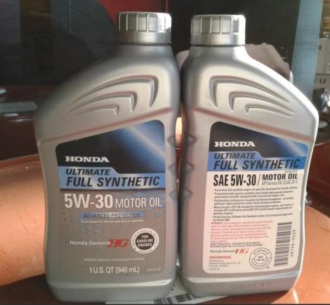 087989039   HONDA   Моторное масло Honda Ultimate Full synthetic 5W-30 HTO-06 0,946L, USA