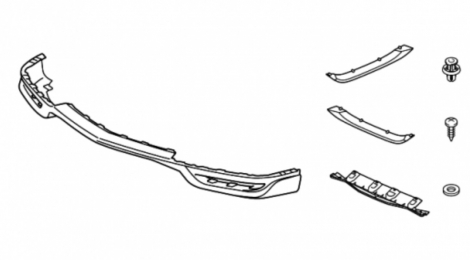 08P98TZ6900 | ACURA | оригинальный Спойлеры нижние, пер. и заднего бампера на Acura MDX III