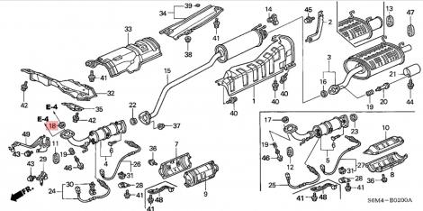 18229S6M003 Прокладка приемной трубы Honda