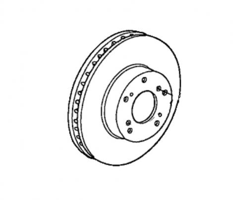 45251TA6A00 | Honda | Тормозной диск передний