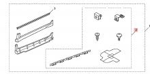 08F04TL2200R3 Монтажный комплект порогов (1 сторона) Honda
