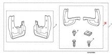 08P09STK2A0R1 Брызговики (компл.) Acura Honda