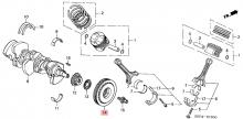 13810RCAA01 Шкив коленчатого вала Honda Acura
